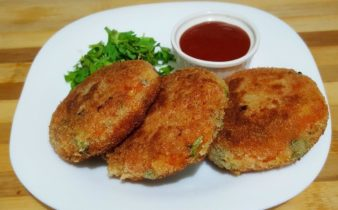 Chicken and potato cutlets